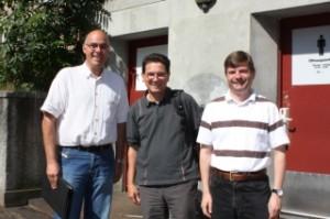 v.l. Urs Brunner, Züri WC, Peti Schmid, IG Bahnhof, Stefan Morgentaler, Bahnhofreisebüro Wipkingen AG