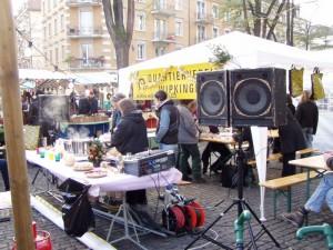 Der QV DJ sorgte für Weihnächtliche Stimmung.
