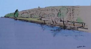 Es wird neu eine Ufertreppe gebaut, die es erlaubt, bei heissem Wetter die Füsse zu kühlen.
