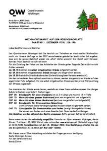 Einladung Weihnachtsmarkt 2018 1 Quartierverein Wipkingen