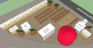 Roeschibachplatz  Eröffnungsfest 27.6.2015 Frischmark Seitenansicht